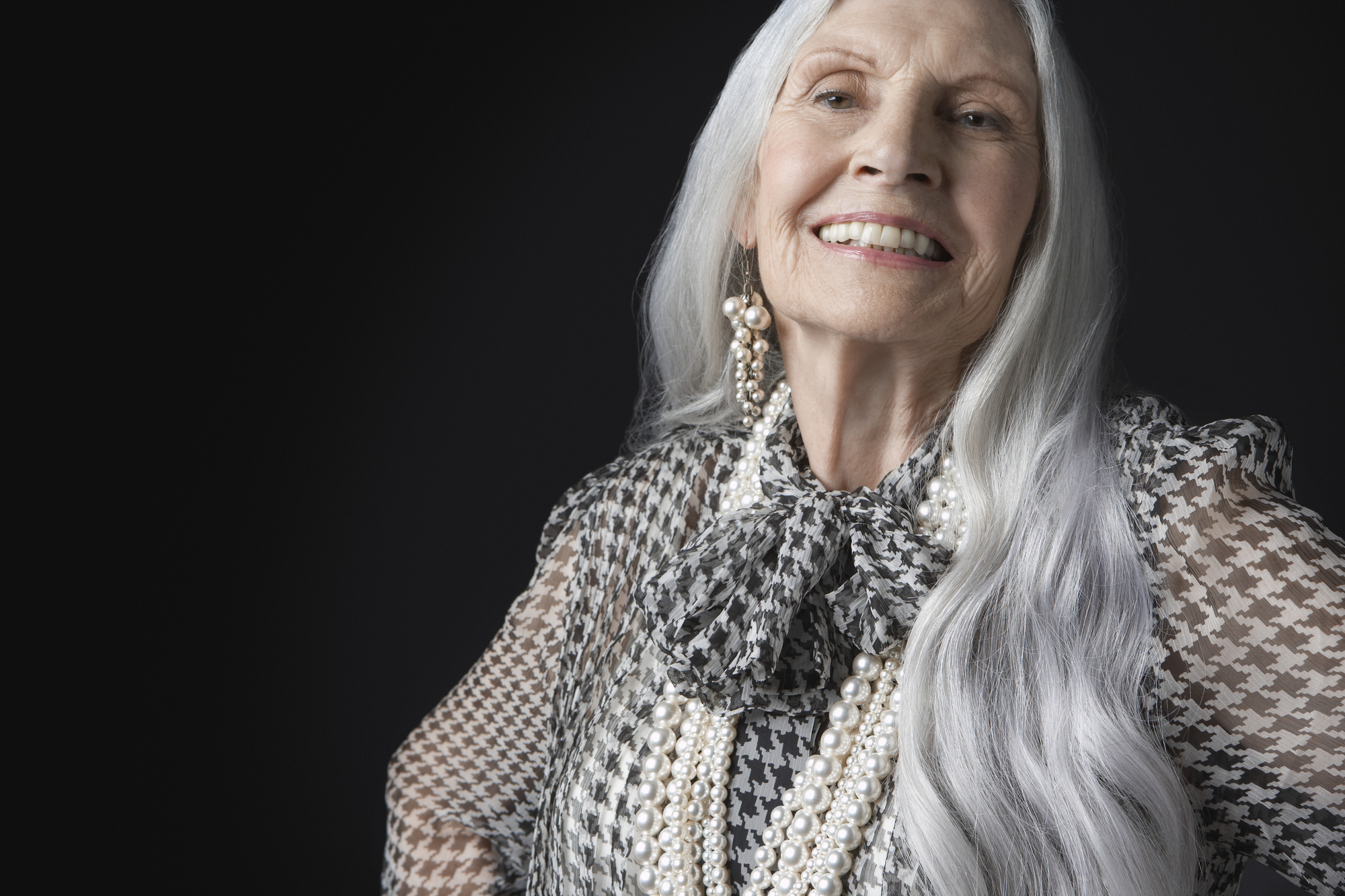 Silver Haired Older Woman